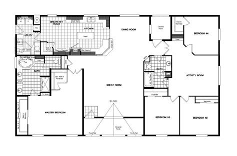 golden west homes floor plans manufactured home floor plan 2007 golden west ge681k 72gol42684bh07