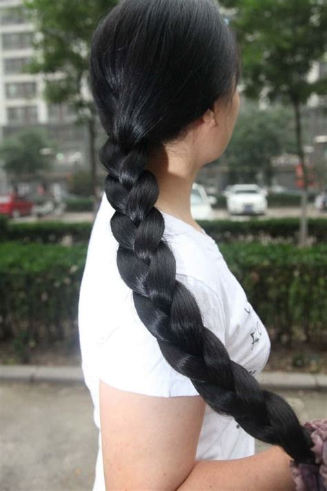 braiding thick hair very long thick braid snow untouched pinterest