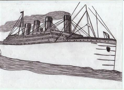 imagenes de un barco para dibujar a lapiz como dibujar el titanic imagui
