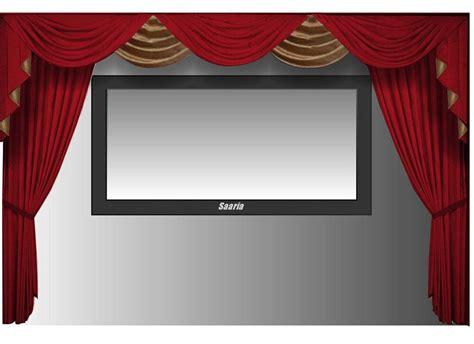 saaria  screen home theater velvet curtains