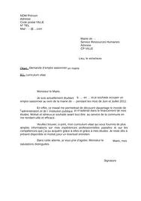 Lettre De Motivation D ã Tã ã Tudiant Cover Letter Exle Exemple De Lettre De Motivation Pour