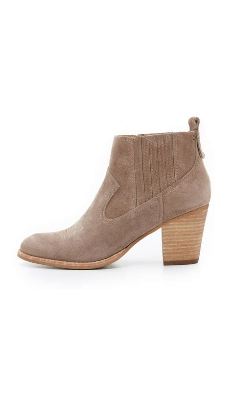 For Dolce Vita by Dolce Vita Jones Booties In Brown Lyst