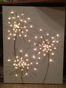 lighted dandelion canvas painting wall