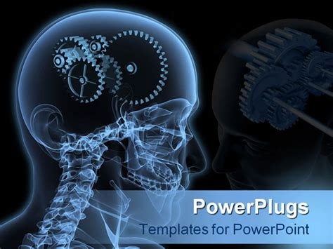 powerpoint template the depiction of gears instead of