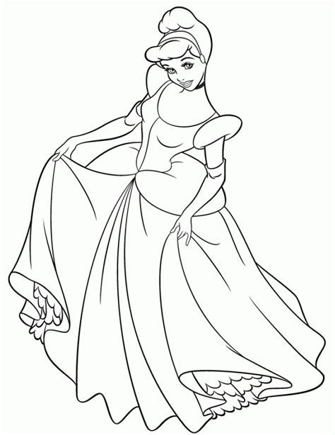 cinderella coloring pages online free games get this online cinderella coloring pages 32607