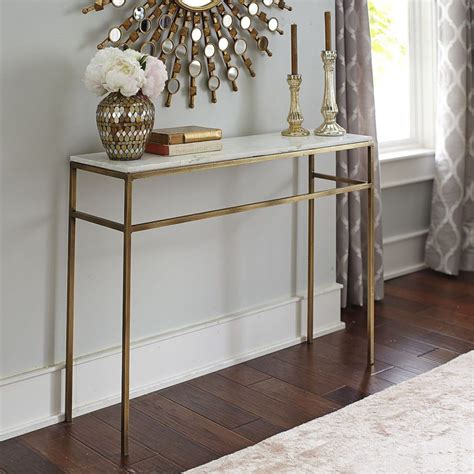 marble top console table furniture beautiful clarissa silver marble top console