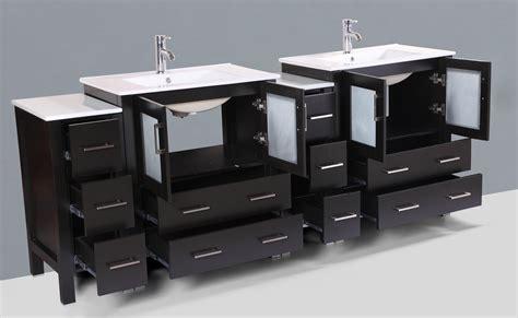 84 inch sink vanity contemporary 84 inch espresso finish sink bathroom