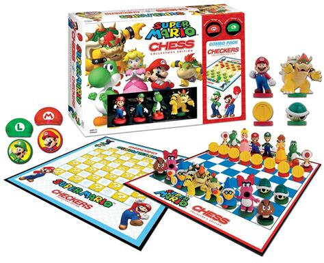 Usaopoly Checkers mario 8bit collector s edition checkers tic tac toe