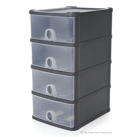Plastic Stacking Drawers by Wham Handy Plastic Stackable Four 4 Drawer Unit A5 Paper