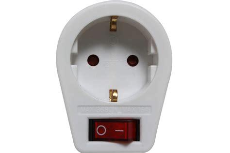 Wandle Mit Stecker Und Schalter by Schaltbare Steckdose Mit Kindersicherung Stecker Schalter