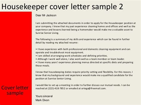 application form application letter housekeeping