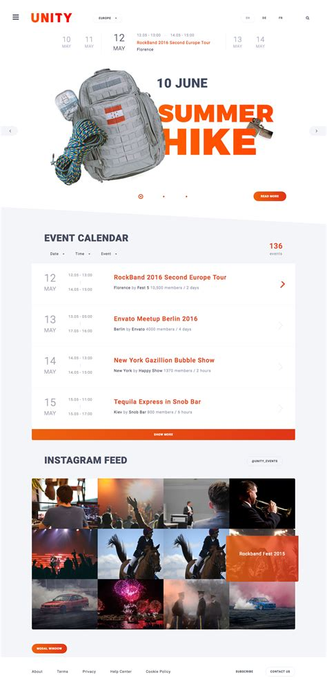 unity layout event unity event fest conference html template by