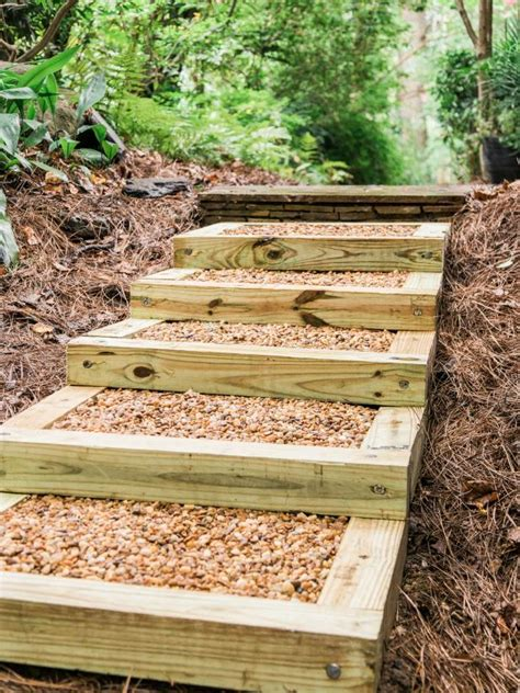 Outdoor Wood Stairs How To Build Outdoor Wood Steps How Tos Diy