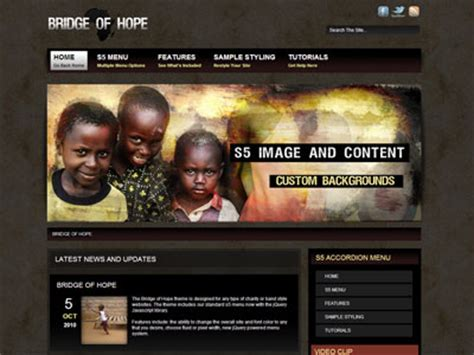 themes in new hope bridge of hope wordpress theme wordpress charity theme
