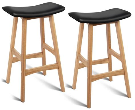 black padded bar stools scoopon shopping set of 2 backless padded bar stools black