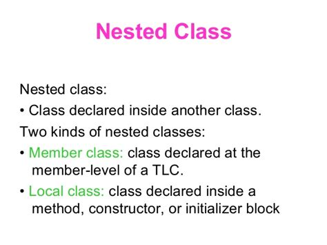 java tutorial nested classes inner classes annoumous and outer classes in java
