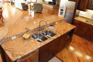 Granite Kitchen Islands With Breakfast Bar Granite Island All Stone Tops Inc Zion Illinois