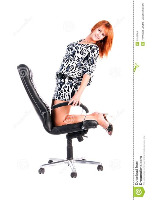 girls armchair pretty alluring young girl on armchair royalty free stock