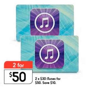 Kmart Itunes Gift Card - expired kmart also offering 2 x 30 itunes gift cards for 50 save 16 6 gift