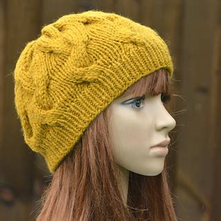 knit 2 purl 2 hat pattern ravelry womens cable beanie kpwb02 pattern by marisa perrin