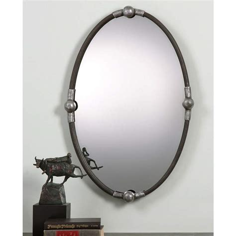 Uttermost Mirrors Oval by Uttermost Rust Black 22 Quot X 32 Quot Oval Wall Mirror