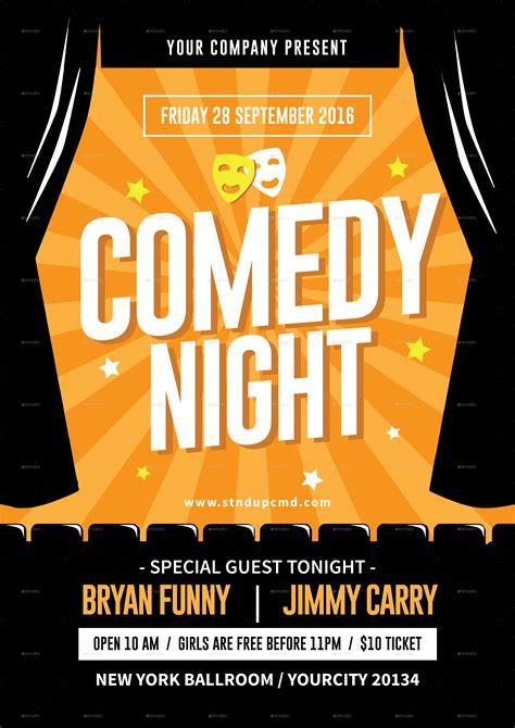 comedy night flyer  tokosatsu graphicriver