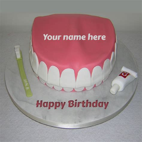 Happy Birthday Wishes For Dentist Happy Birthday Delicious Flower Cake With Your Name