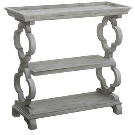 Quatrefoil Console Table Chelsea Tray Top Grey Quatrefoil Console Table By Crestview Ls