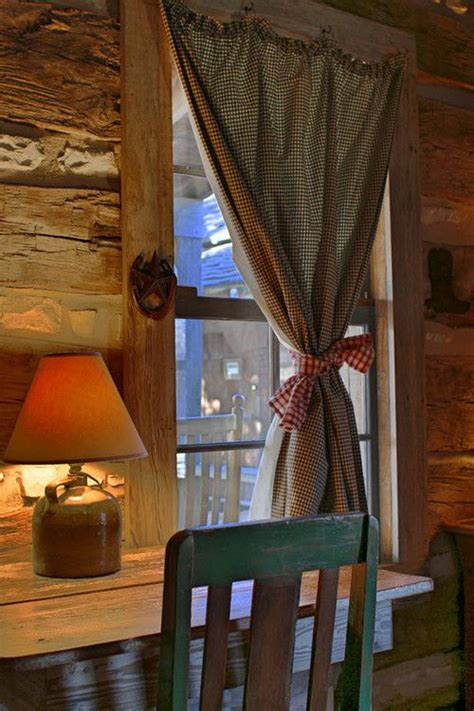 Log Cabin Style Curtains by 25 Best Ideas About Cabin Curtains On Farm