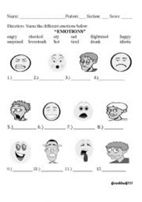 Identifying Feelings Worksheet by Identifying Emotions For Adults Gallery