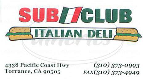 Big 5 Torrance Pch - sub club italian deli big menu torrance dineries