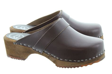 clogs heels for toffeln 310 wooden clogs in brown in brown