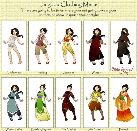 Meme Clothing - jing dou clothing meme by phr34kish on deviantart