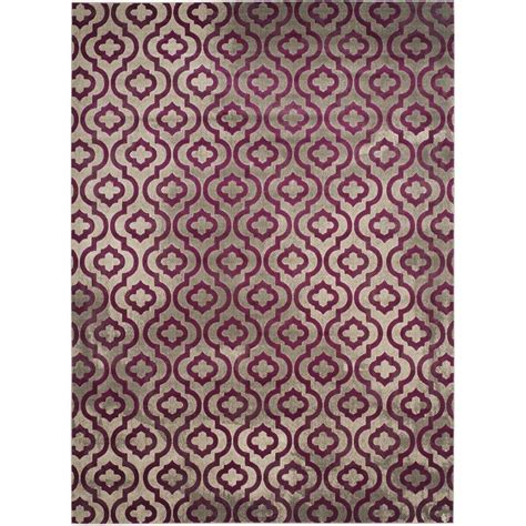 Grey And Purple Area Rug Safavieh Porcello Light Grey Purple 9 Ft X 12 Ft Area Rug Prl7734b 9 The Home Depot