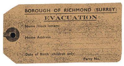 ww2 evacuee identity card template evacuee