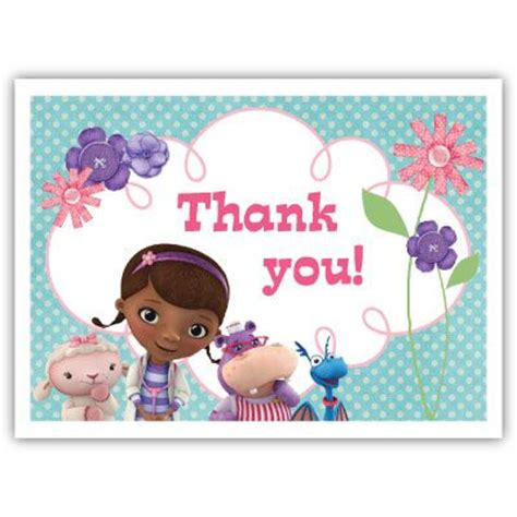 printable thank you cards for doctors thank you card doc mcstuffins printables home edition