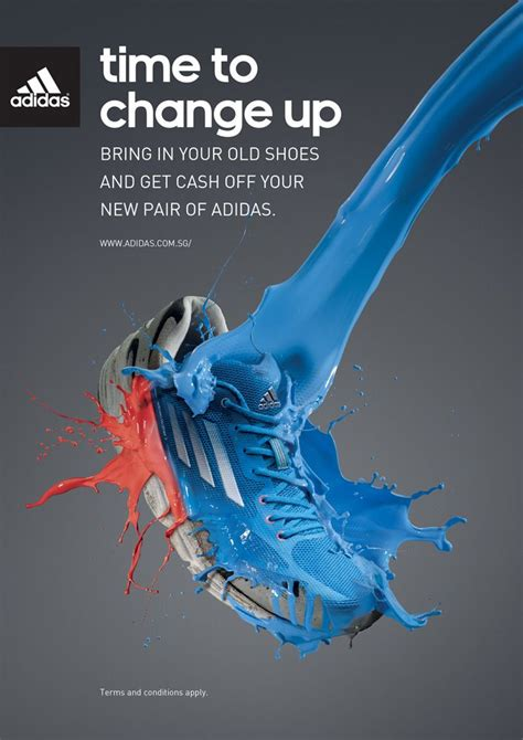 time to change up adidas shoes advertising sport advertising advertising