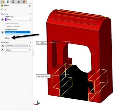solidworks tutorial indent using the solidworks indent feature instead of combine