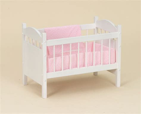 Handmade Wooden Crib - amish handmade wood wooden doll crib bedding bed 18