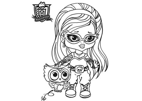 monster high names coloring pages baby monster high coloring pages baby ghoulia yelps