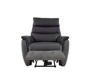 fauteuil relax 233 lectrique maestro cuir tissu noir gris