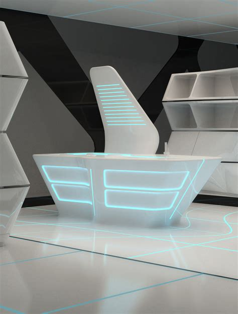 Kitchen Inspired By Tron Legacy Aquilialberg Evolo Future Furniture Design