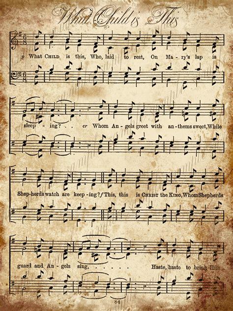 printable vintage christmas sheet music grungy aged vintage christmas carol music digital sheet
