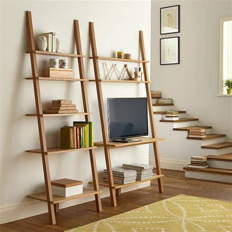 Leaning Ladder Bookshelf Diy Clublifeglobal Com Ikea Leaning Ladder Bookcase