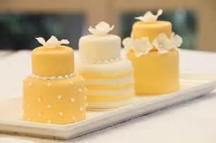 yellow mini cakes bitsy bride