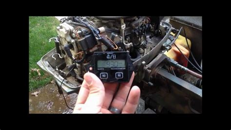 johnson outboard marine motor tachometer hour meter