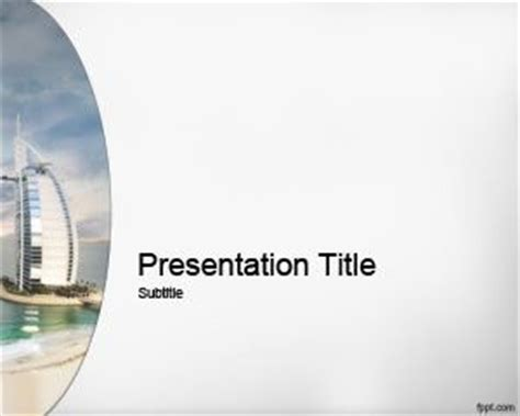 ppt templates free download tourism dubai powerpoint template
