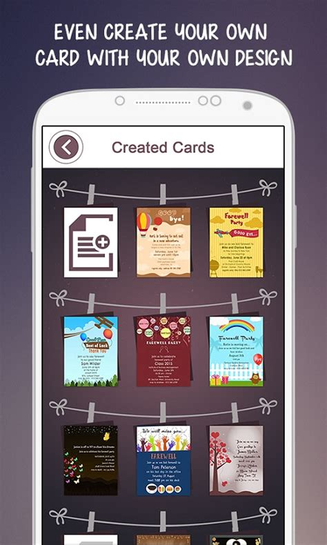 invitation card design app for android farewell party invitation free android app android freeware