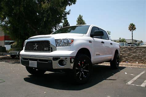 white toyota tundra with black wheels white toyota tundra with rbp grille and 94r gloss black