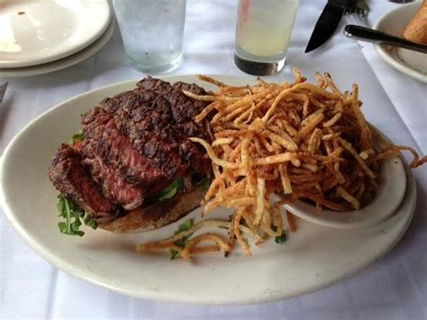 gibsons steak house steak sandwich shoestring fries picture of gibsons bar steakhouse chicago